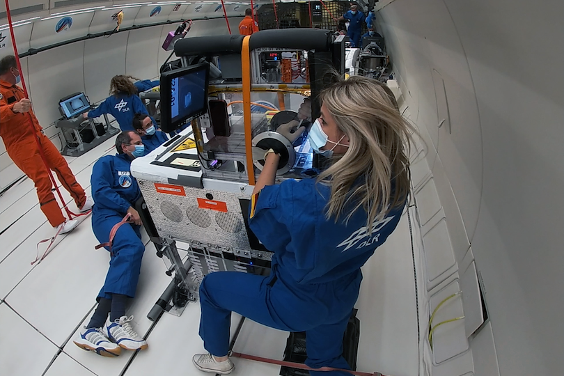 Microgravity tests on the 35th DLR Parabolic Flight Campaign