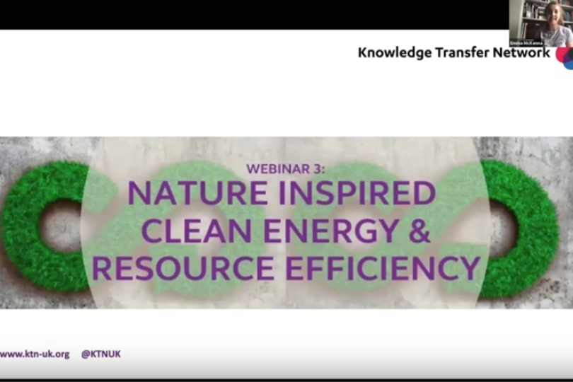KTN webinar on Nature Inspired Solutions: Clean Energy & Resource Efficiency online now