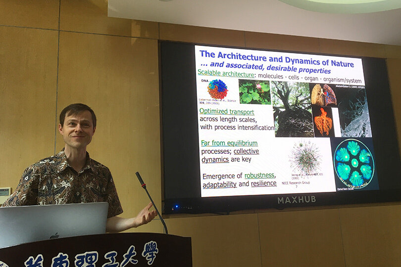 Marc-Olivier Coppens gives seminars at Fluidization XVI conference, Zhejiang University and ECUST
