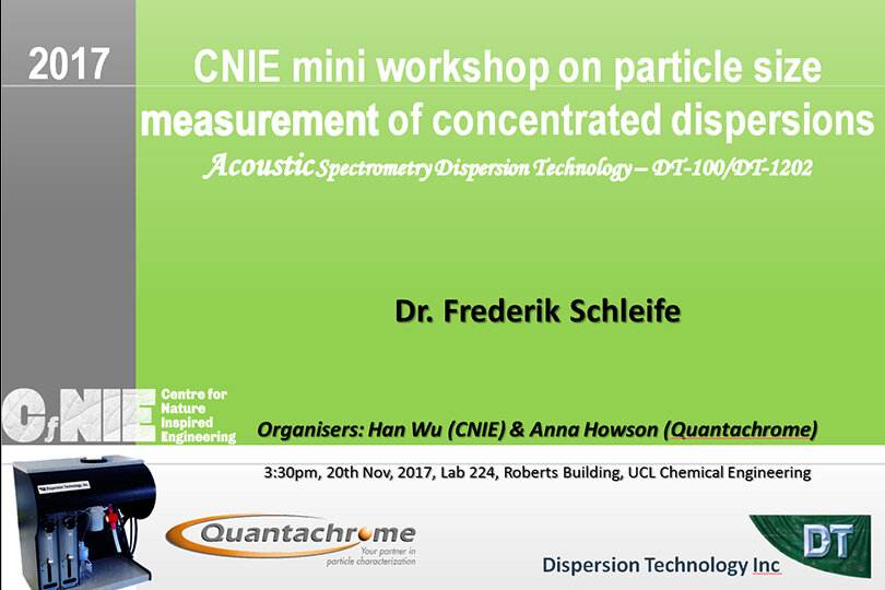 CNIE / Quantachrome mini workshop - 20 November