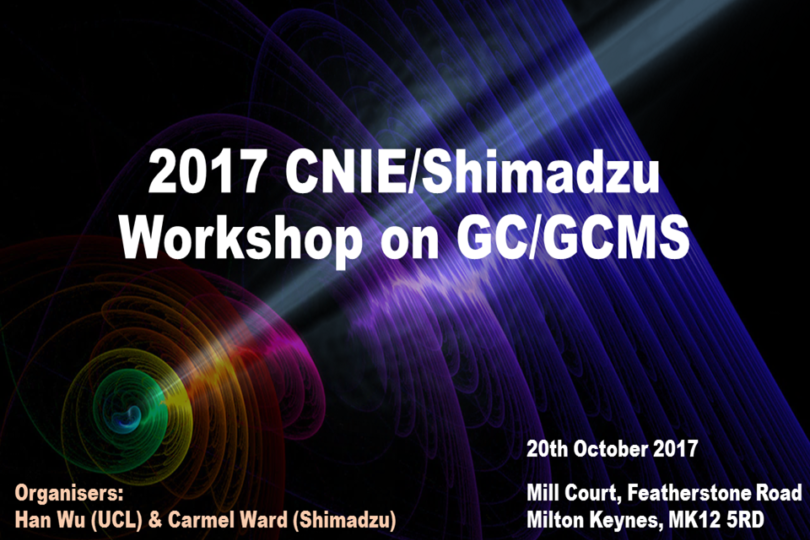 JOIN US at the GC Workshop at Shimadzu, 20th October