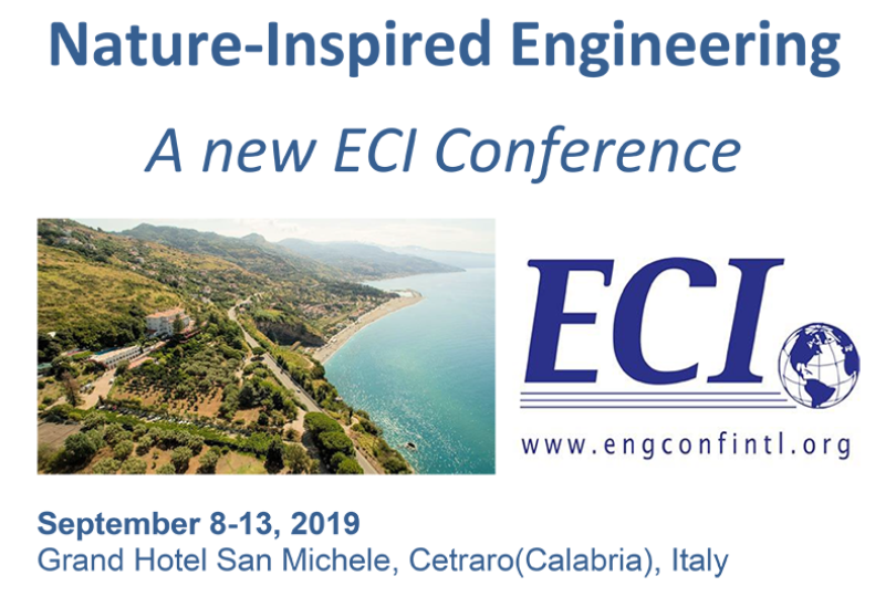ECI Conference on Nature-Inspired Engineering begins Sunday 8th September