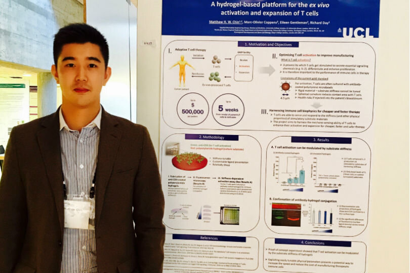 CNIE PhD researcher Matthew Chin presents posters at two international conferences