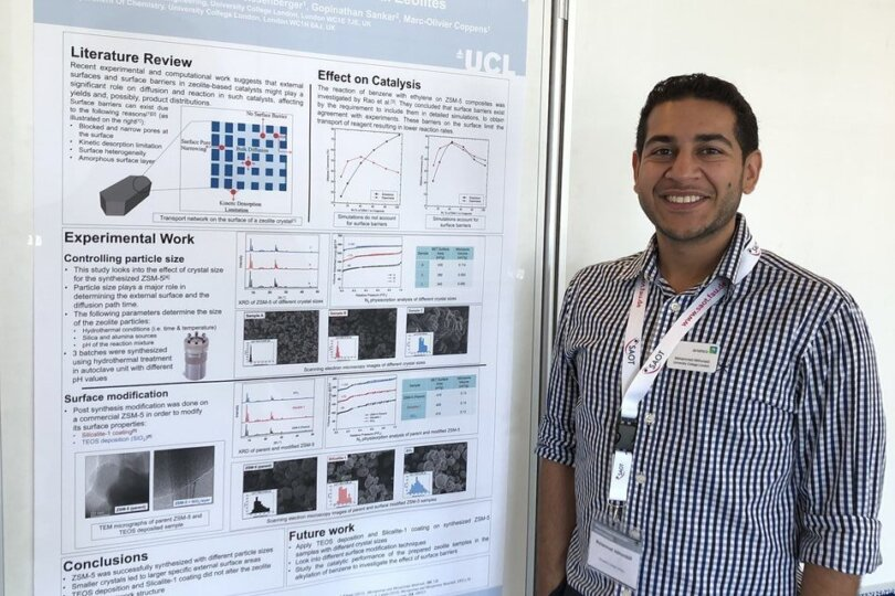 PhD students, Haiyue Yu & Mohammad Alkhunaizi present their posters at Diffusion Fundamentals VIII